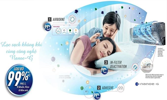Máy lạnh Panasonic CS-VU12SKH-8 1.5 HP lọc sạch không khí trong phòng