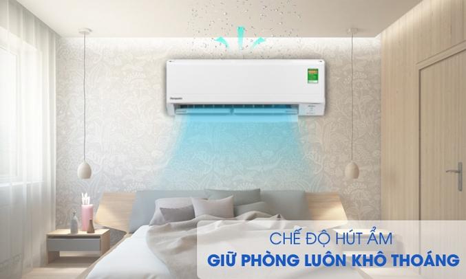 Máy lạnh Panasonic Inverter 1 HP CU/CS-PU9WKH-8M Chế độ hút ẩm hiện đại