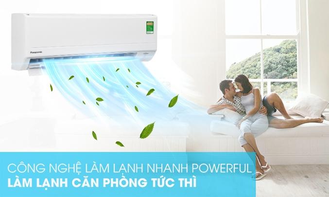 Máy lạnh Panasonic Inverter 1 HP CU/CS-PU9WKH-8M Làm lạnh nhanh