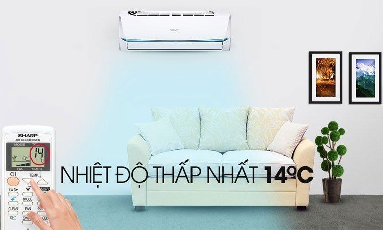 Máy lạnh Sharp 1.5HP AH-A12UEW hoạt động êm ái với công suất 1.5HP