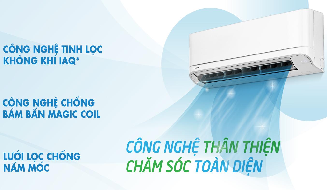 Máy lạnh Toshiba 1.5 HP RAS-H13QKSG-V chống bám bẩn