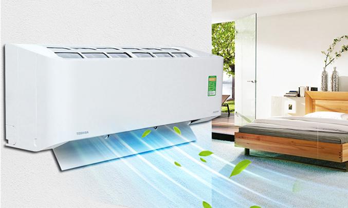 Máy lạnh Toshiba RAS-H10PKCVG-V 1 HP không khí mát lạnh khắp căn phòng