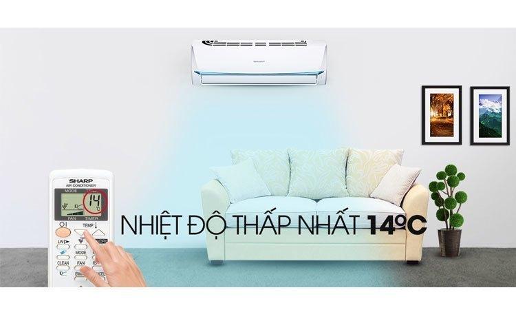 Máy lạnh Sharp 1 Hp AH-A9UEW phù hợp không gian nhỏ dưới 15 m2