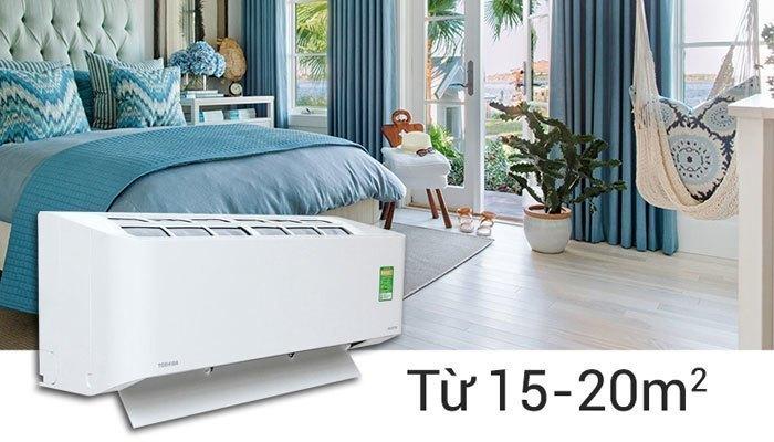 Máy lạnh Toshiba RAS-H13BKCV-V thích hợp sử dụng cho phòng dưới 20 m2