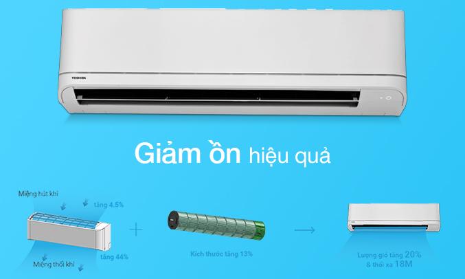 Máy lạnh Toshiba 1 HP RAS-H10U2KSG-V giảm ồn
