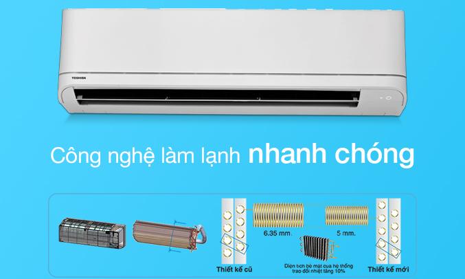 Máy lạnh Toshiba 1 HP RAS-H10U2KSG-V làm lạnh nhanh