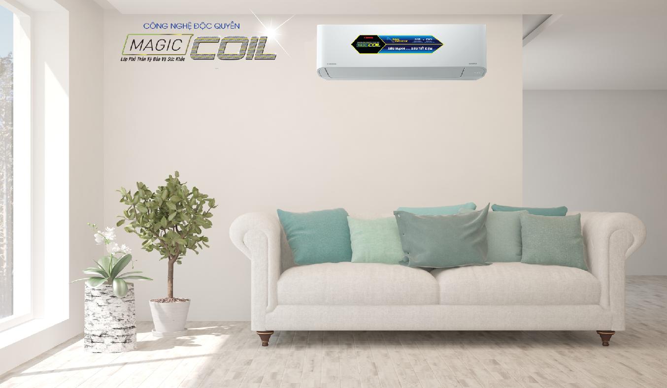 Máy lạnh Toshiba Inverter 1.5 HP RAS-H13C3KCVG-V - công nghệ độc quyền Magic Coil