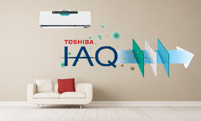 Máy lạnh Toshiba Inverter 1.5 HP RAS-H13E2KCVG-V - IAQ