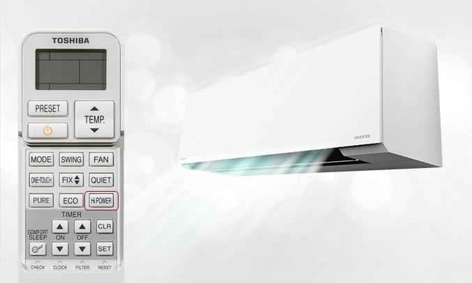 Máy lạnh Toshiba Inverter 2 HP RAS-H18E2KCVG-V - Hi Power