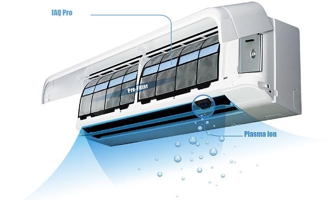 Máy lạnh Toshiba Inverter 1 HP RAS-H10E2KCVG-V - Công nghệ Plasma Ion