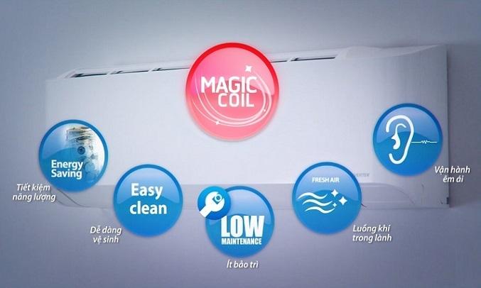 Máy lạnh Toshiba Inveter 1 HP RAS-H10N4KCVPG-V - Công nghệ chống bám bẩn Magic Coil
