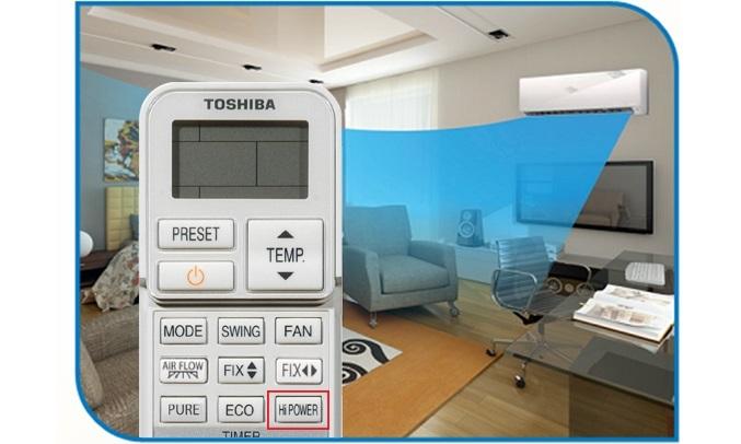 Máy lạnh Toshiba Inverter 2.5 HP RAS-H24E2KCVG-V - Công nghệ Hi Power làm lạnh nhanh