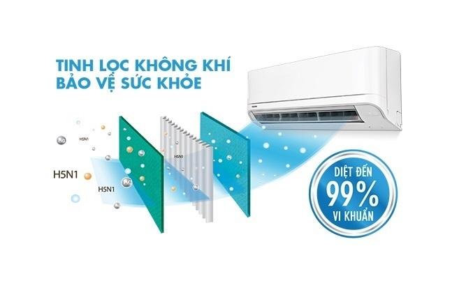 Máy lạnh Toshiba Inverter 2.5 HP RAS-H24E2KCVG-V - Hệ thống khử mùi diệt khuẩn