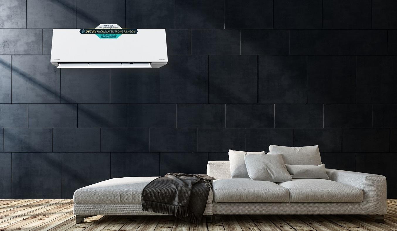 Máy lạnh Toshiba Inverter 2.5 HP RAS-H24E2KCVG-V - Thiết kế nguyên khối tinh tế