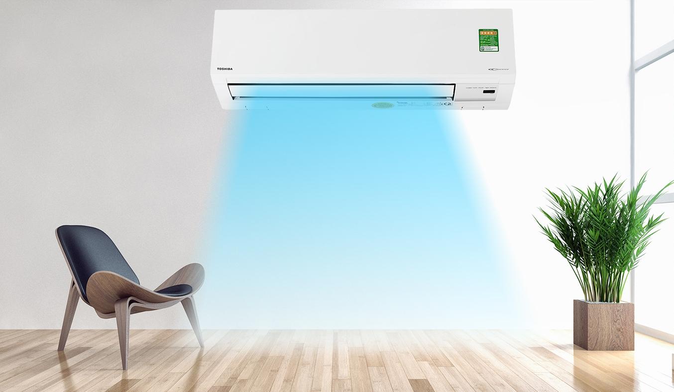 Máy lạnh Toshiba Inverter 1.5 HP RAS-H13H2KCVG-V - Thiết kế trang nhã, đường cong bo tròn mềm mại