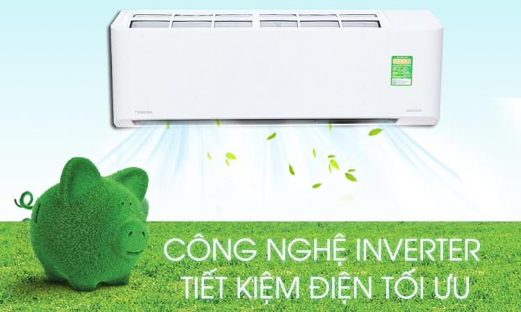 Máy lạnh Toshiba RAS-H10PKCVG-V 1 HP công nghệ Inverter tiết kiệm điện