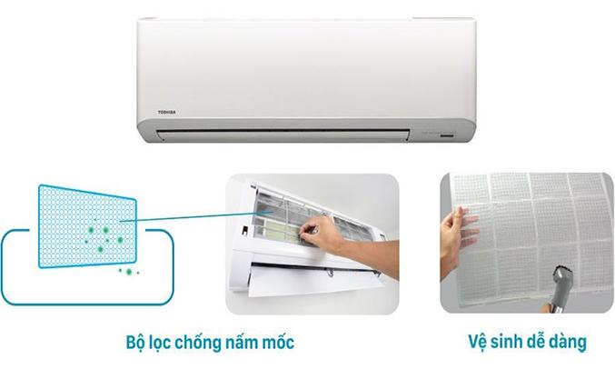 Máy lạnh Toshiba RAS-H18S3KS-V 2 HP dễ vệ sinh