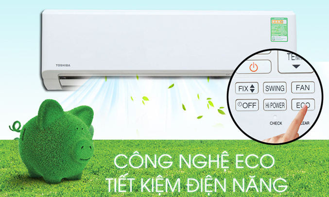 Máy lạnh Toshiba 1 HP RAS-H10S3KS-V tiết kiệm điện