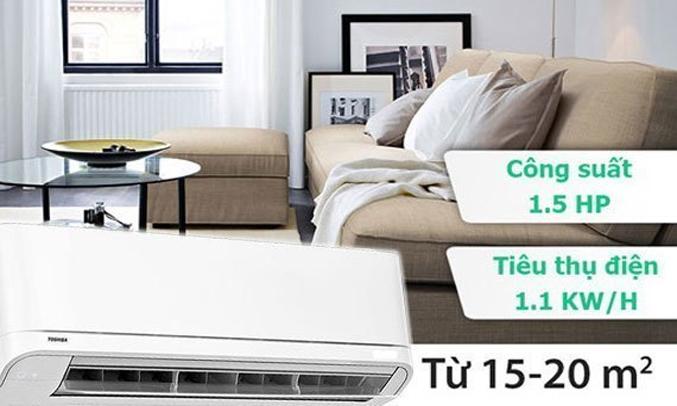 Máy lạnh Toshiba 1.5 HP RAS-H13QKSG-V tiết kiệm điện