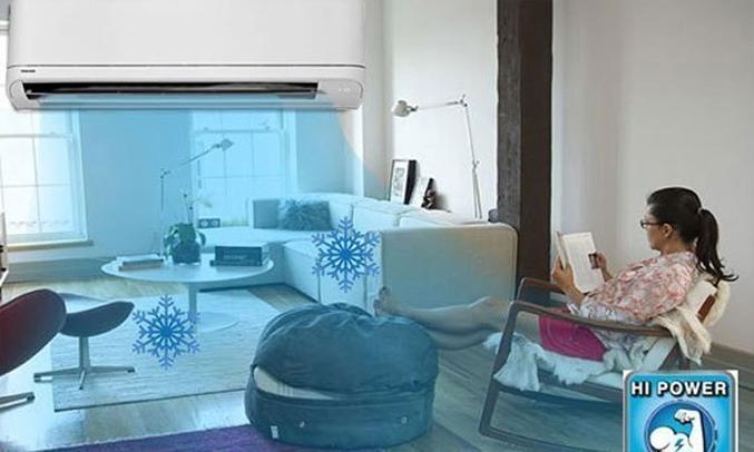 Máy lạnh Toshiba 1.5 HP RAS-H13QKSG-V làm lạnh nhanh