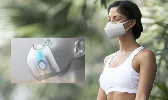 Khẩu trang lọc không khí LG Puricare AP300AWFA - Cảm biến hô hấp