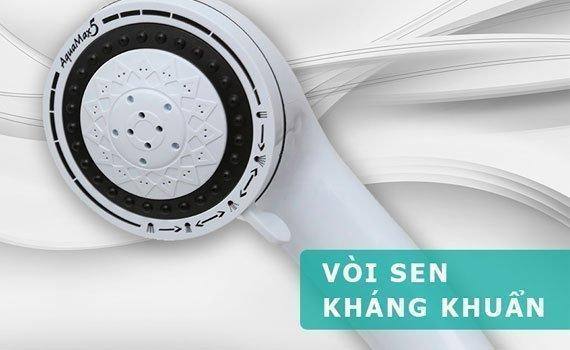 Máy nước nóng Centon CP0077EP EMC tím vòi sen có 5 kiểu phun