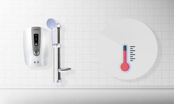 Máy tắm nước nóng Legend LEF35-EP Bạc - Tự ngắt khi quá nhiệt