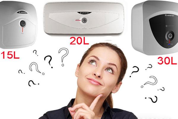 Nên nhờ nhân viên tư vấn để chọn được mức dung tích máy nước nóng phù hợp với số lượng thành viên trong gia đình
