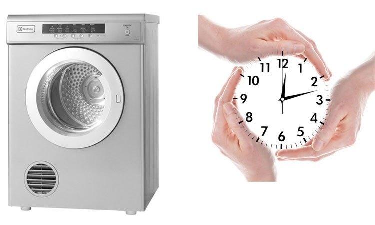 Máy sấy Electrolux EDV7552S màu xám bạc tiết kiệm thời gian sấy khô với cảm biến thông minh