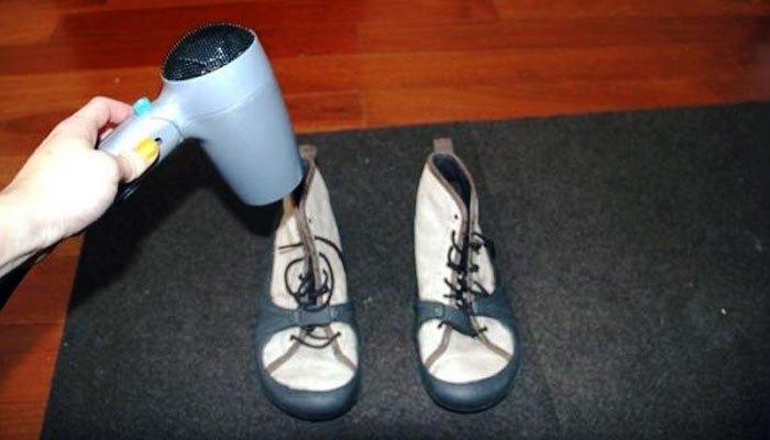 Máy sấy tóc thích hợp cho giày cotton, giày vải