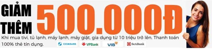 Mua sắm bằng thẻ tín dụng ngân hàng, tiết kiệm thêm 500.000đ