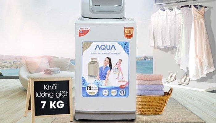 Khối lượng giặt 7kg, máy giặt sẽ thích hợp cho gia đình từ 2 - 3 người