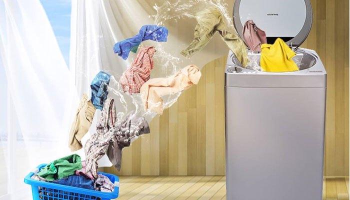 Quần áo khô nhanh với công nghệ Air Dry trên máy giặt Sharp