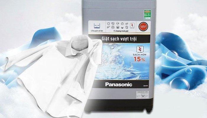 Không lo quần áo nhăn nhúm với máy giặt Panasonic
