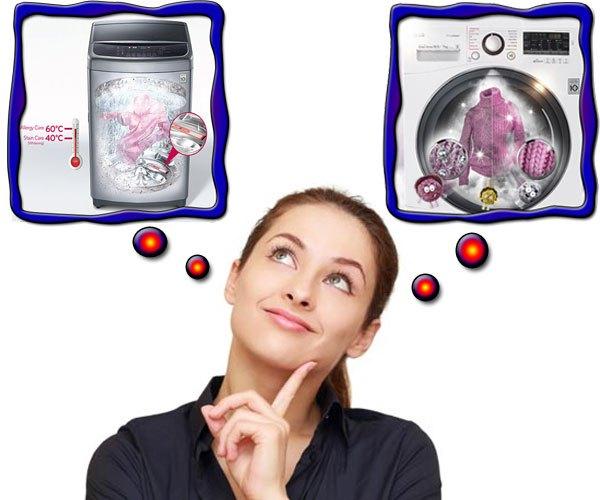 Nên chọn máy giặt nước nóng hay máy giặt hơi nước