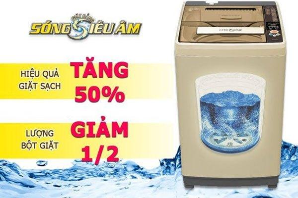 Hiệu quả tuyệt vời từ sóng siêu âm trên máy giặt Aqua tiết kiệm bột giặt
