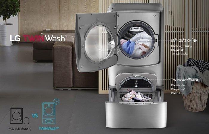 Máy giặt LG TWIN Wash dễ phân loại quần áo