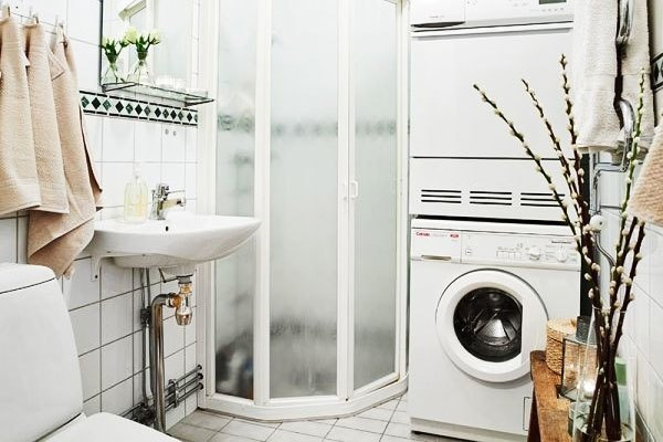 Đặt máy giặt ở phòng tắm
