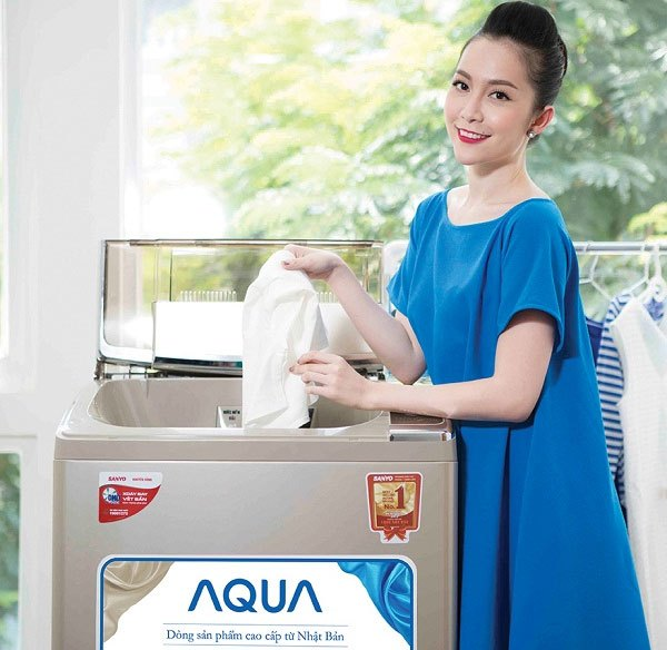 Bạn dễ chọn lựa chế độ giặt phù hợp với loại quần áo trên máy giặt Aqua