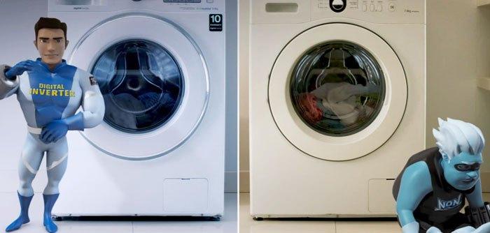 Máy giặt Inverter hoạt động bền tốt hơn máy giặt thường
