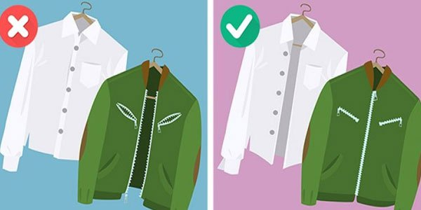 Dây kéo sẽ làm ảnh hưởng đến vải của quần áo khi giặt chung trong máy giặt