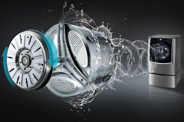 Động cơ máy giặt TWIN Wash mạnh mẽ, bền bỉ