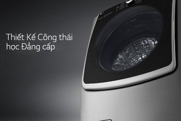 Máy giặt LG TWIN Wash sở hữu thiết kế sang trọng, đẳng cấp làm nổi bật không gian đặt sản phẩm