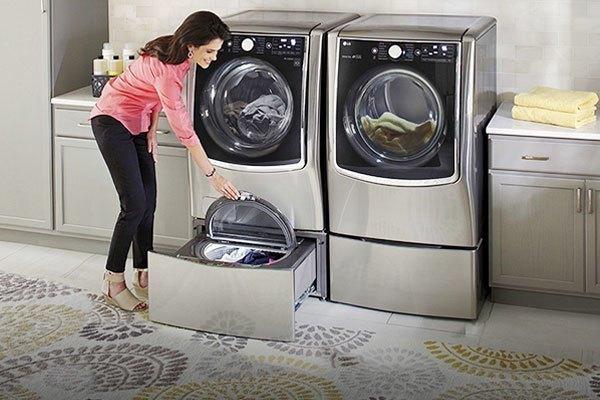 Máy giặt LG TWIN Wash với 2 ngăn riêng biệt giúp bạn tiết kiệm thời gian tối đa