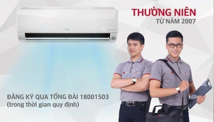 Máy lạnh LG bảo dưỡng miễn phí