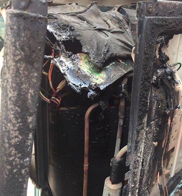 Dàn lạnh có thể bị cháy lan nếu bạn không dùng Aptomat cho máy lạnh