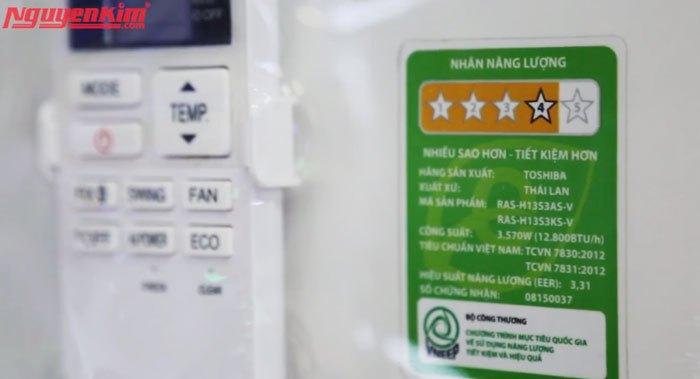 Càng nhiều sao, máy lạnh càng tiết kiệm điện