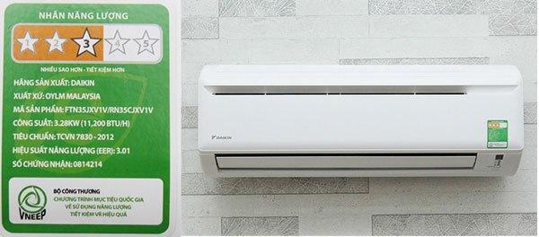Chỉ số hiệu suất năng lượng EER thường được trình bày trên nhãn năng lượng của máy lạnh