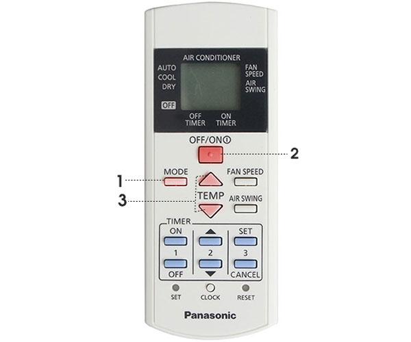 Sơ đồ hoạt động remote máy lạnh Panasonic