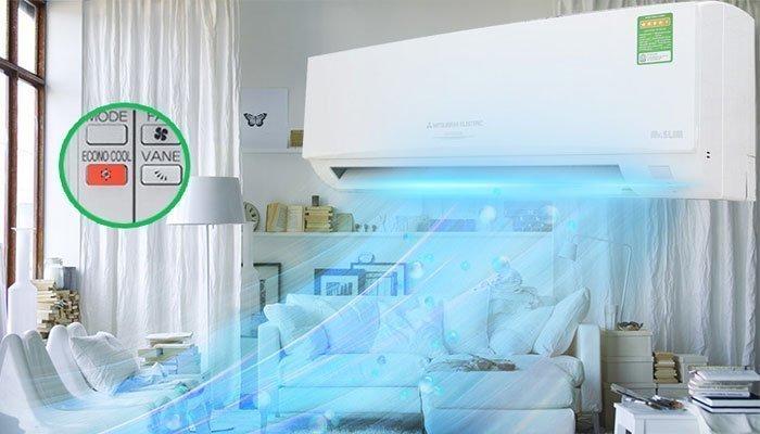 Chế độ Econo Cool trên máy lạnh giúp tăng cường hiệu quả tiết kiệm điện năng
